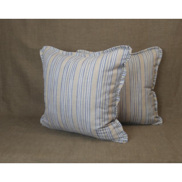 2020s Pindler Throw Pillows in Miranda Linen Print - a Pair For Sale - Image 5 of 5