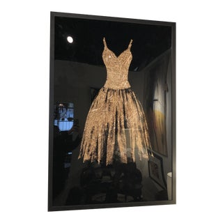 Todd Murphy Straw Dress in Shadowbox For Sale