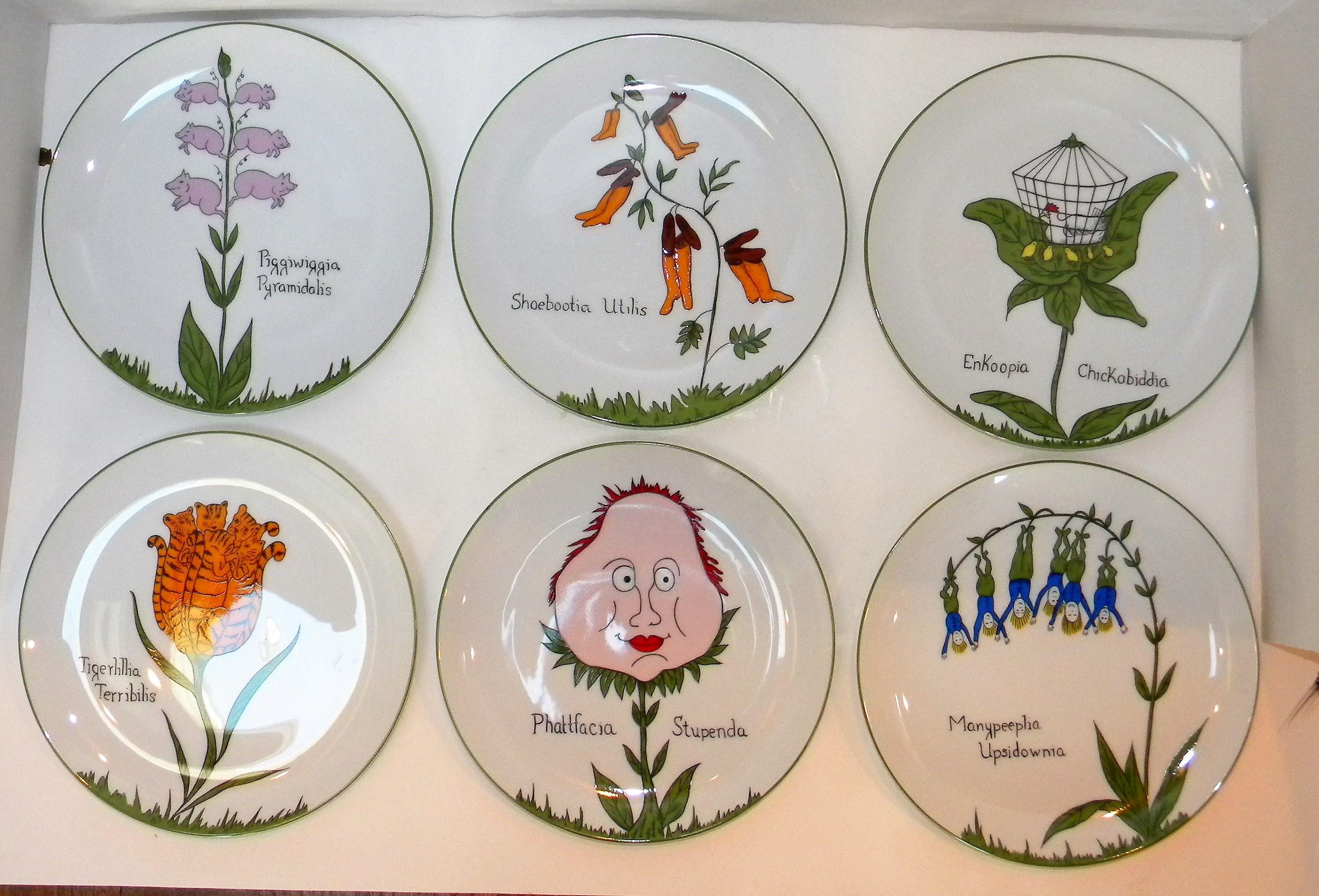 Scully and Scully Whimsical Plates - Image 2 of 9  sc 1 st  Chairish & Scully and Scully Whimsical Plates | Chairish