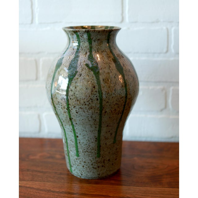 Signed Multicolored Studio Pottery Ceramic Vessel For Sale - Image 4 of 7
