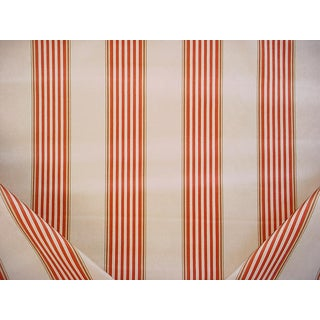 C & C Milano 177197 Venice Stripe Printed Cotton Velvet Upholstery Fabric - 3-1/8y For Sale
