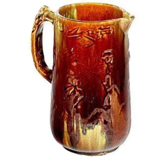 Antique Majolica Handled Pitcher For Sale