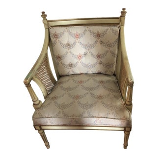 1960s Vintage French Shabby Chic Style Chair For Sale