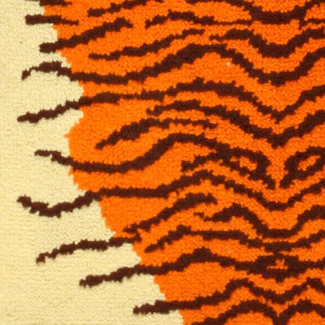 Here is a unique and intriguing vintage carpet - a mid-20th century carpet woven in Scandinavia, at the height of that...