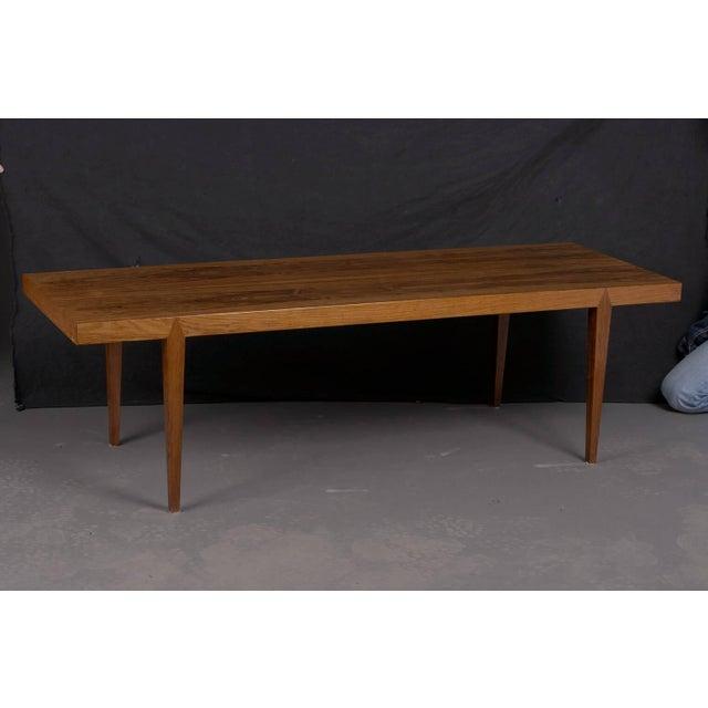 Midcentury Danish rosewood coffee table by Severin Hansen, 1960.