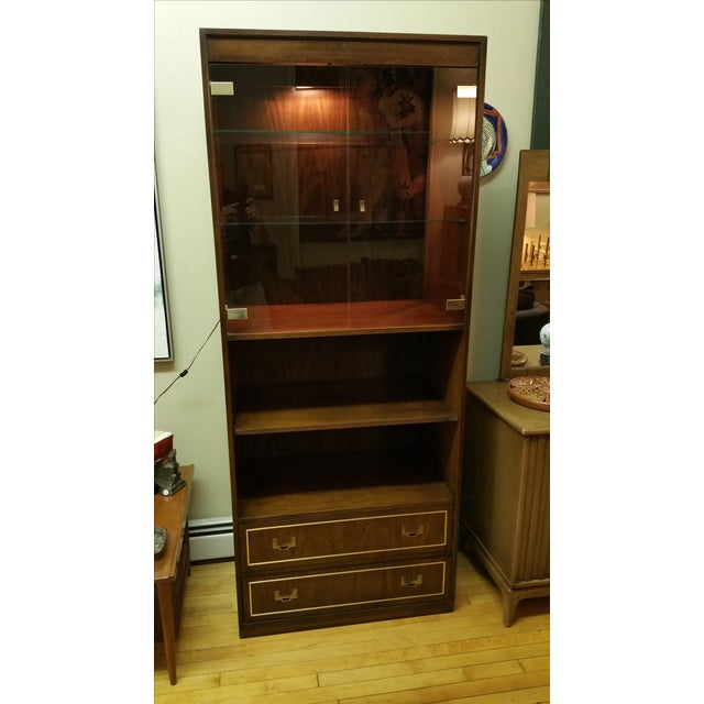 Thomasville Campaign Style Display Cabinet - Image 3 of 12