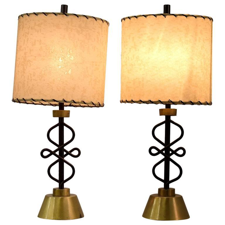 Two 1950s Table Lamps By Majestic, New York   Image 11 Of 11