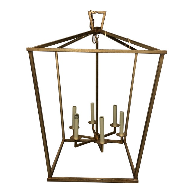 """Visual Comfort """"Darlana"""" Large Lantern in Gilded Iron For Sale"""