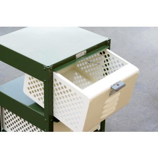 1 X 3 Locker Basket Unit in Army Green and Pearl, Custom Made to Order Preview