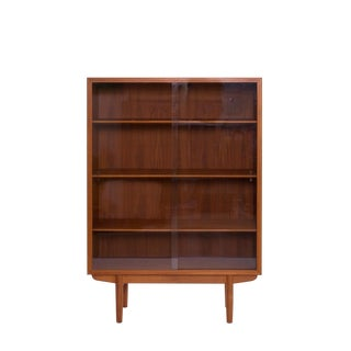 Borge Mogensen Teak Glass Book Case For Sale