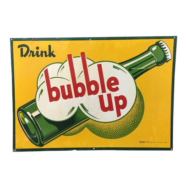 Antique Bubble Up Soda Advertising Sign