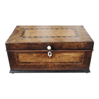 Tunbridge Ware Sewing Box For Sale