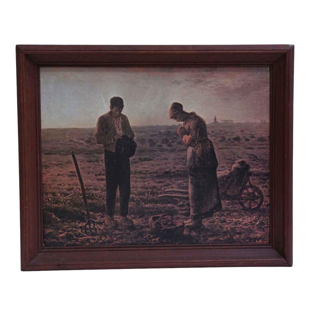 The Angelus Prayer at Harvest Painting For Sale
