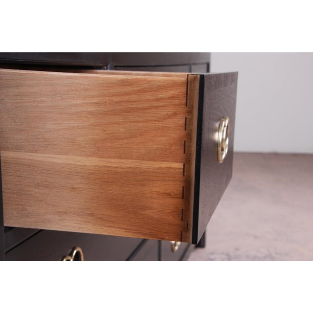 Michael Taylor for Baker Furniture Hollywood Regency Ebonized Long Dresser or Credenza For Sale - Image 11 of 13