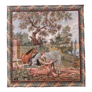 1940s Vintage French Tapestry For Sale