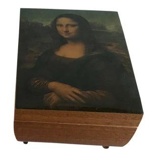 Vintage Mid-Century Mona Lisa Trinket Box For Sale