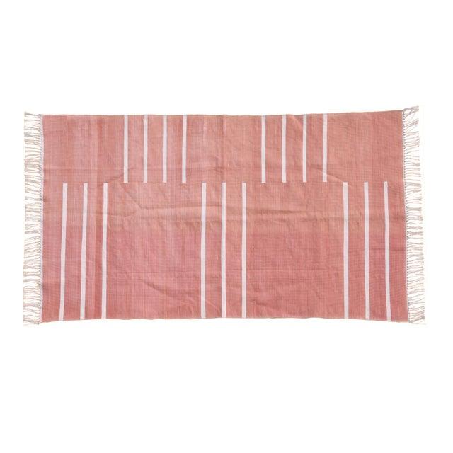 Boho Chic Pomegranate Rug, 9x12, Blush & White For Sale - Image 3 of 3