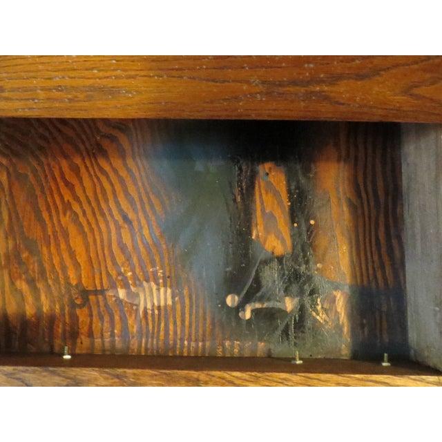Oak Secretary Curio Cabinet For Sale - Image 5 of 11