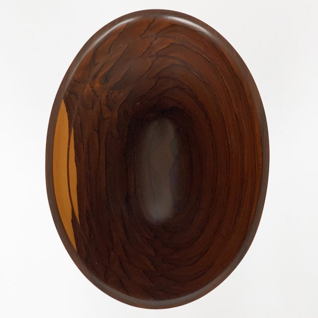 Peter Petrochko Carved Padauk and Ziricote Wood Bowl For Sale In Chicago - Image 6 of 13