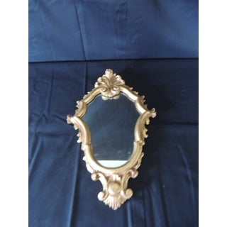 Vintage Small Florentine Gold Leaf Ornate Mirror Preview