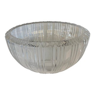 Tiffany & Co Extra Large Crystal Atlas Roman Numeral Bowl For Sale