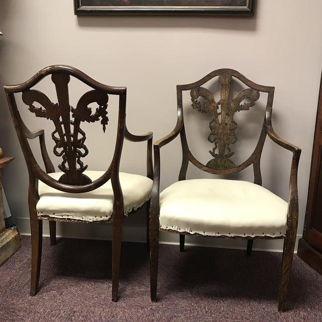 C. 1795 English Hepplewhite Chairs - A Pair - Image 10 of 10