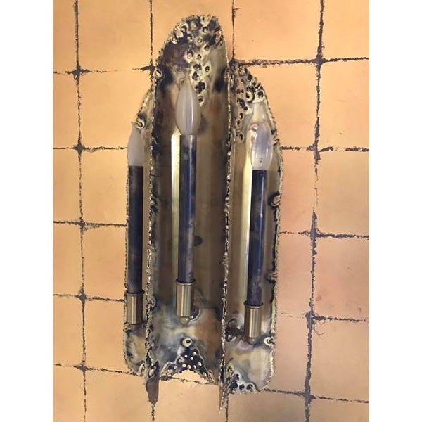 Tom Greene for Feldman Brutalist Torch Cut Sconces - 4 Available - Image 2 of 5