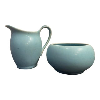 1922 Rookwood Pottery Cream and Sugar Set - Set of 2 For Sale