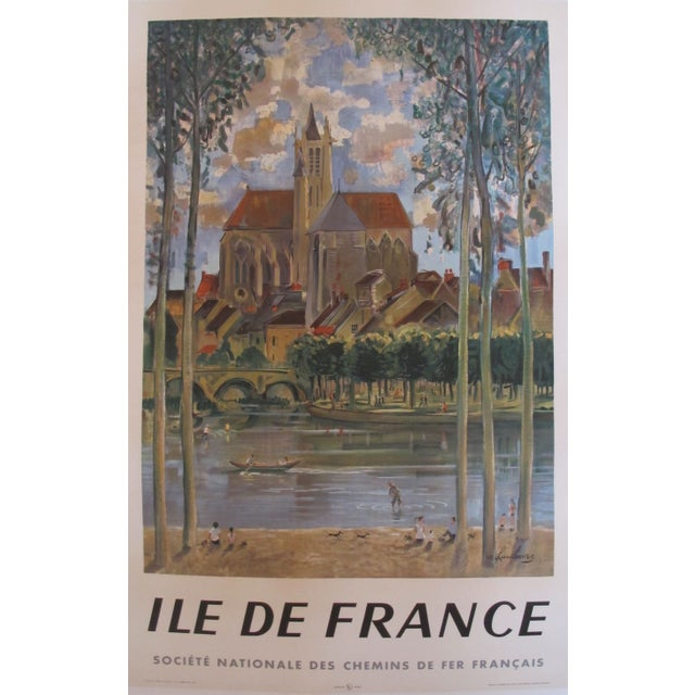 1958 Original Franch Railway Poster, Ile de France - Image 6 of 6
