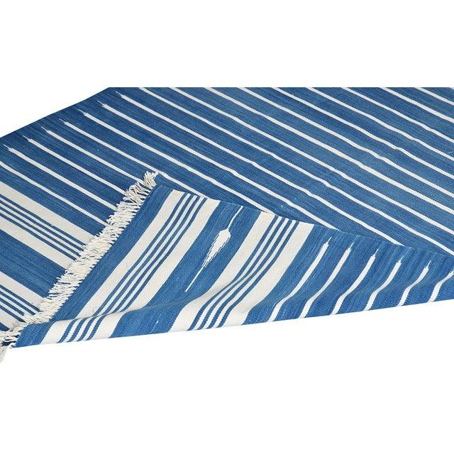 Boho Chic Amaranthus Rug, 9x12, Blue & White For Sale - Image 3 of 5