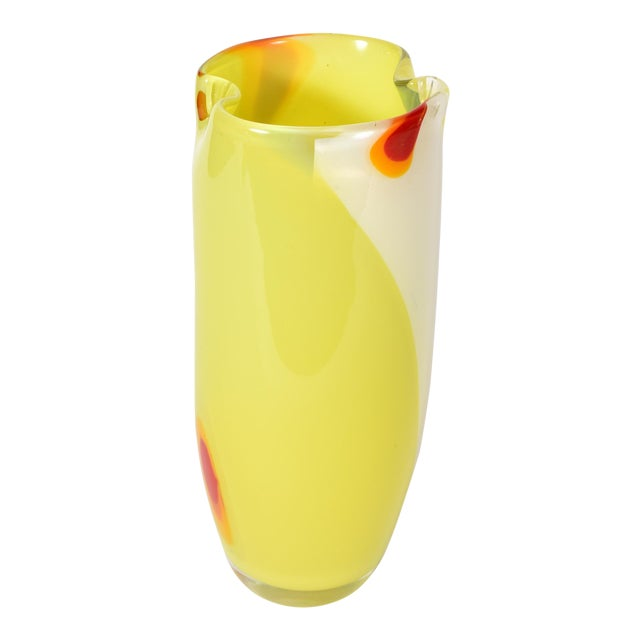 Mid-Century Modern Murano Glass Vase For Sale