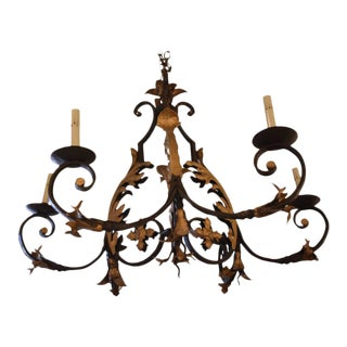 Mid-20th Century French Iron Chandelier