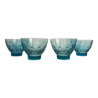 Vintage Mid-Century Compote Desert Glasses - Set of 4 For Sale