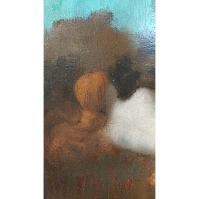 19th Century Jean-Jacques HennerStyle Study of a Nude Nymph Oil Painting For Sale - Image 4 of 11