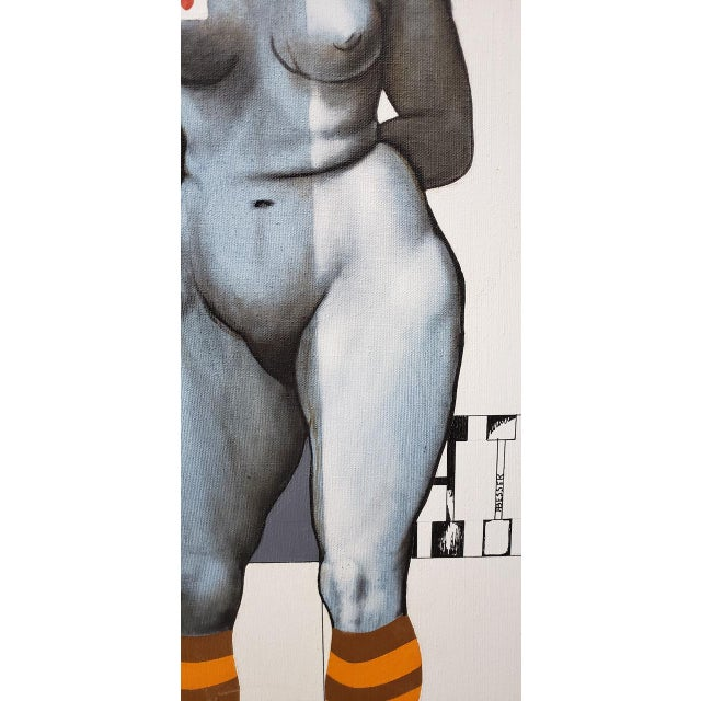 1970s Arne Besser (American, B.1935) Two Hearts Original Oil Painting C.1970 For Sale - Image 5 of 11