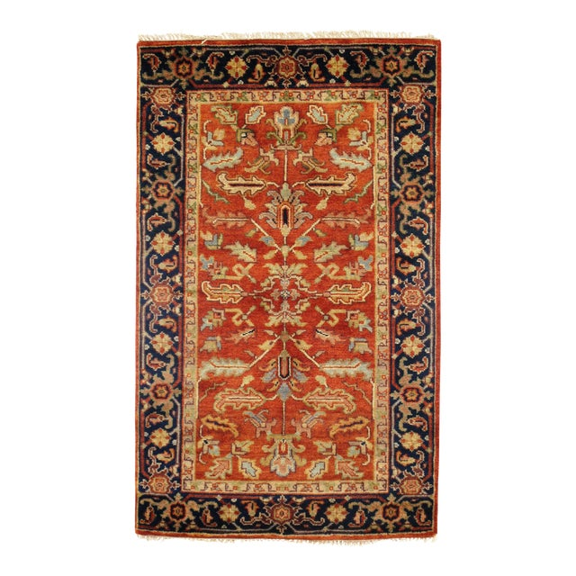 """Traditional Pasargad N Y Fine Serapi Design Hand-Knotted Rug - 3'1"""" X 5' For Sale"""