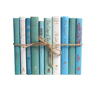 Modern Ocean ColorPak - Decorative Books in Shades of Blue, White and Seafoam