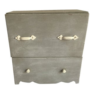 Miniature Gray Painted Blanket Chest For Sale