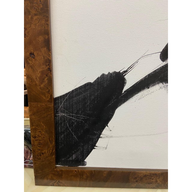 White Gianfranco Cioffi Sumi Ink Painting For Sale - Image 8 of 12