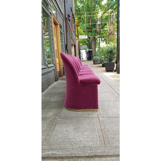 Mid-Century Purple Velvet Dining Chairs - Set of 8 - Image 2 of 8