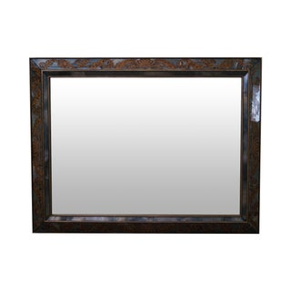 Vintage Italian Eglomise Gold Painted Frame Mirror For Sale
