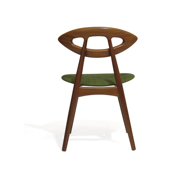 Green Pair of Ejvind a Johansson Danish Eye Chairs For Sale - Image 8 of 13