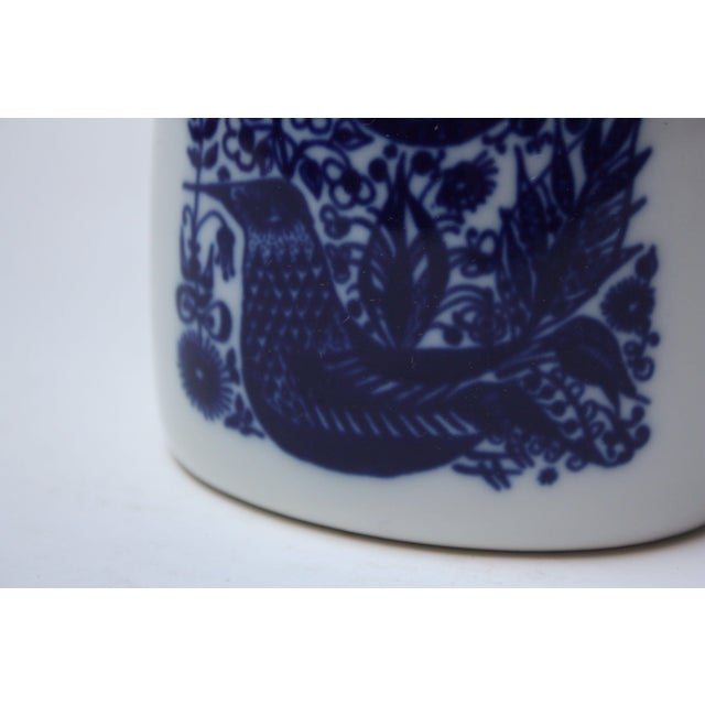 Vintage Norwegian Modern 'Bird and Floral' Vase by Porsgrund For Sale In New York - Image 6 of 8