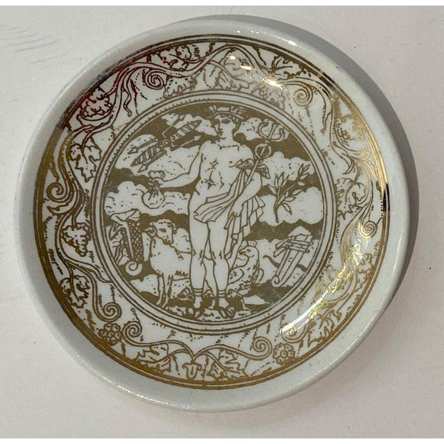 """Mid-Century Modern Fornasetti """"Mitologia"""" Coasters - Set of 10 (8 Designs) For Sale In West Palm - Image 6 of 13"""