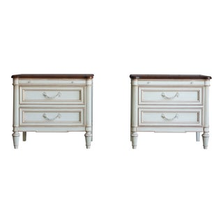 French Regency Nightstands - a Pair For Sale