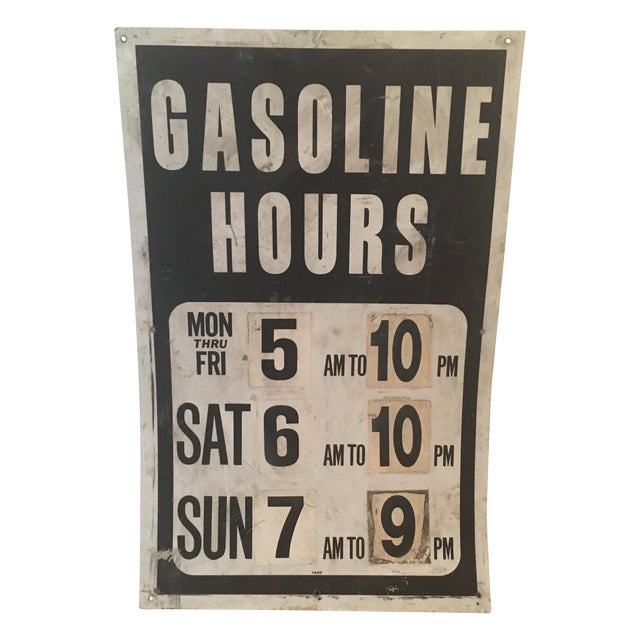 Vintage Gasoline Station Sign - Image 1 of 4