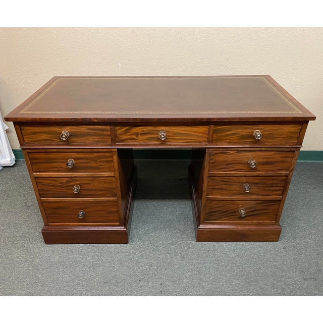 Early 20th Century English Colonial Three Piece Desk For Sale - Image 13 of 13