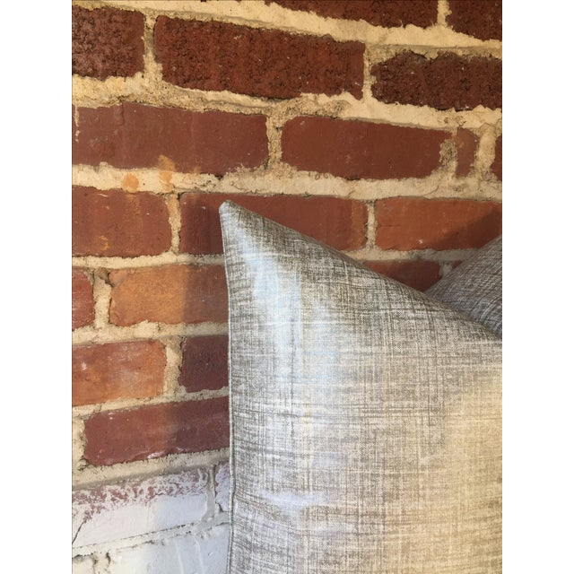 Platinum Metallic Linen Pillow Cover - Image 5 of 5