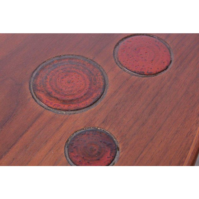 Dunbar Janus Table by Edward Wormley With Natzler Tiles For Sale - Image 11 of 12