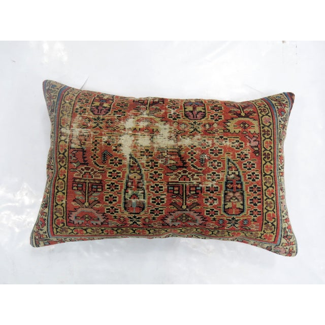 Distressed Persian Rug Pillow - Image 2 of 5